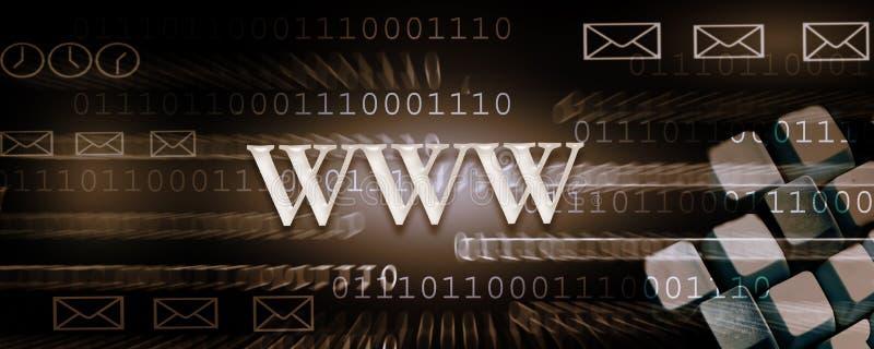 标头互联网 库存例证