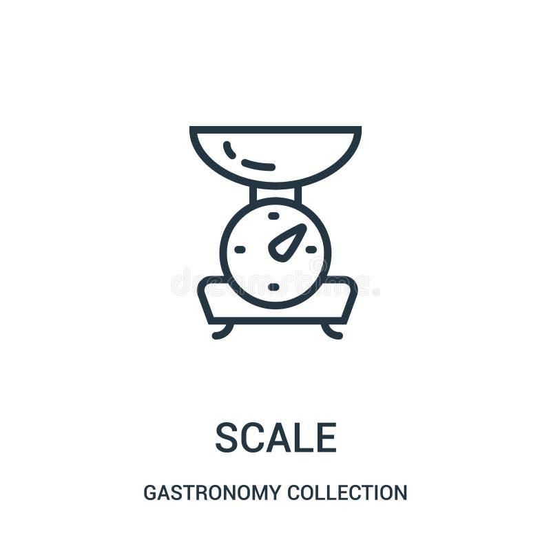 标度从美食术汇集汇集的象传染媒介 稀薄的线标度概述象传染媒介例证 向量例证