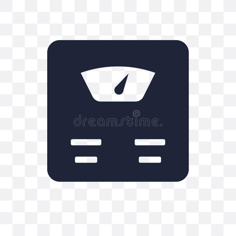 标度透明象 标度从健身房和健身的标志设计 库存例证