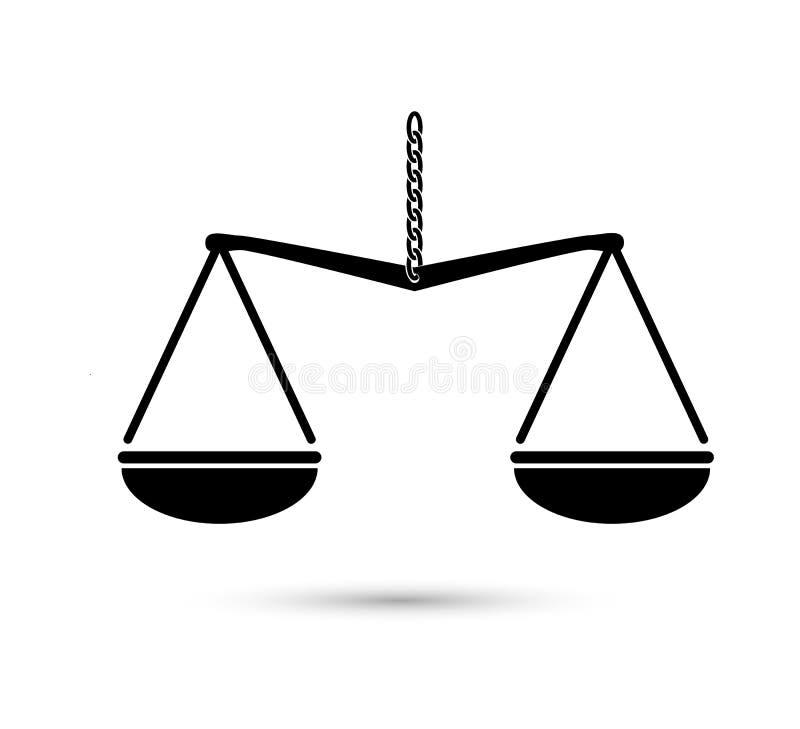 标度重量或正义标度例证传染媒介象  皇族释放例证