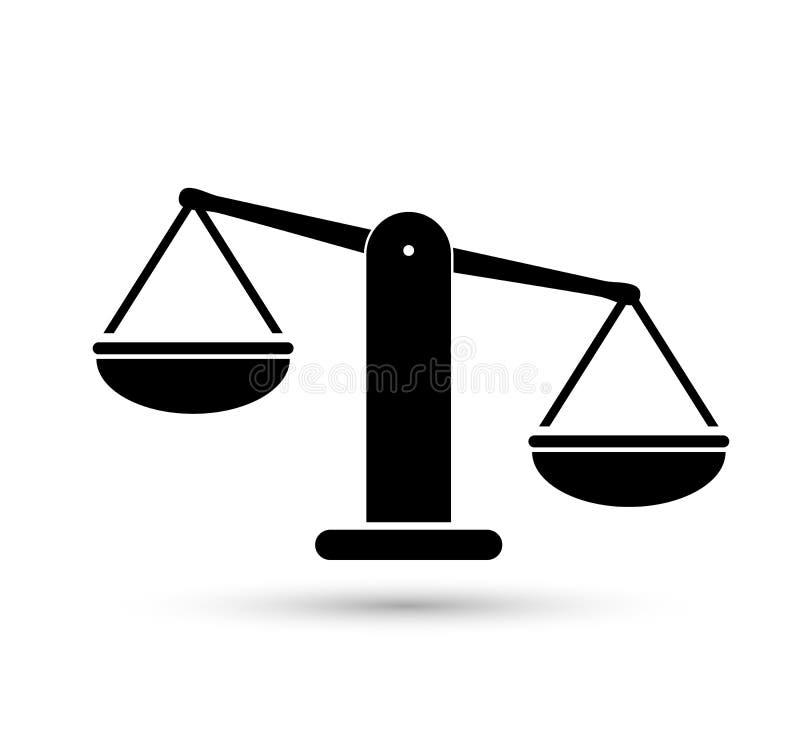 标度重量或正义标度例证传染媒介象  库存例证