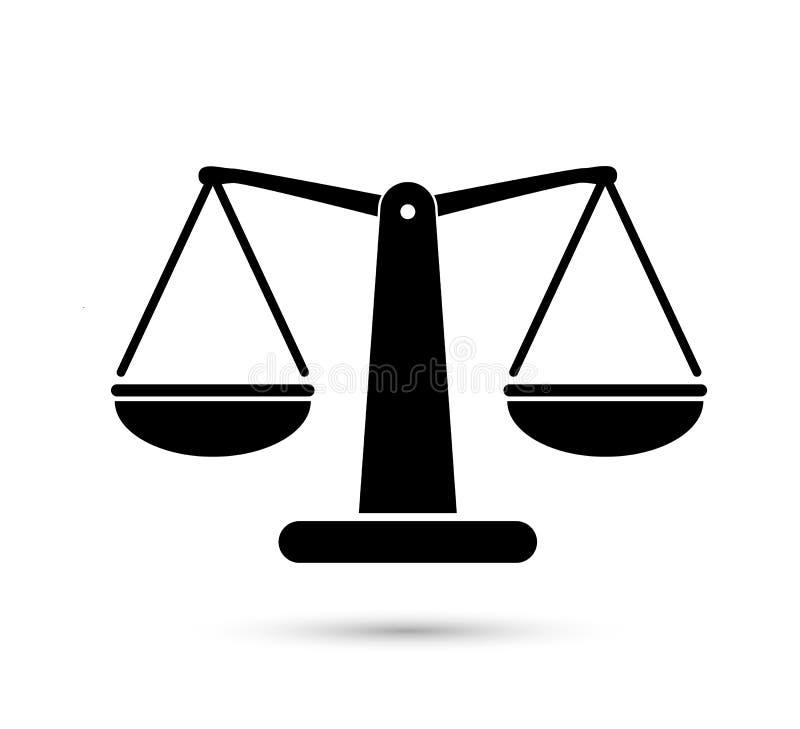 标度重量或正义标度例证传染媒介象  向量例证
