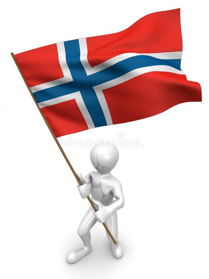 标志人挪威 皇族释放例证