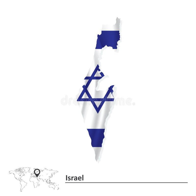 标志以色列映射 向量例证