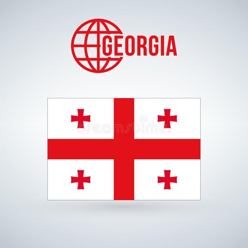 标志佐治亚 在与阴影的现代背景隔绝的例证 皇族释放例证