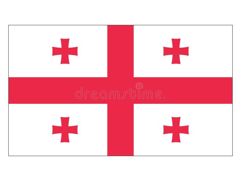 标志佐治亚 皇族释放例证