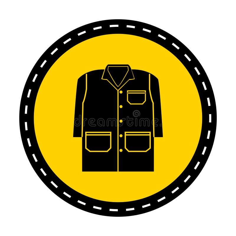 标志佩带在白色背景,传染媒介例证的褂子孤立 皇族释放例证