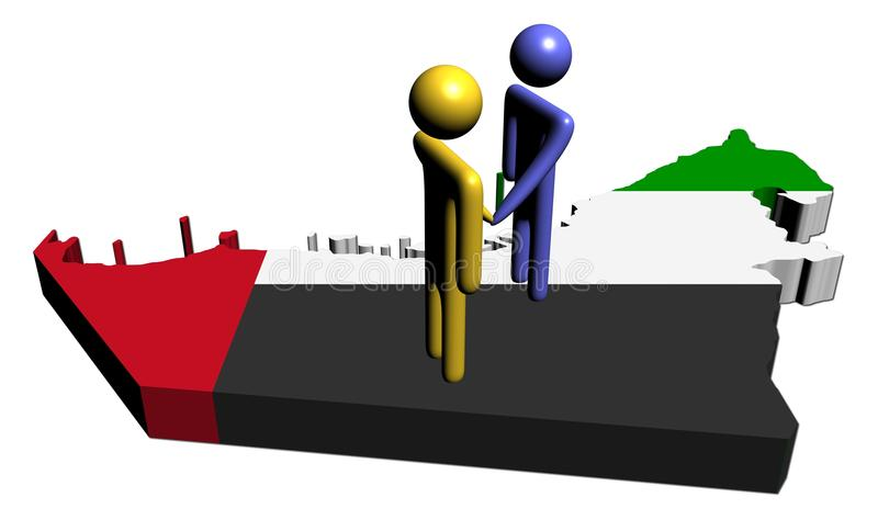 标志例证映射会议阿拉伯联合酋长国 向量例证