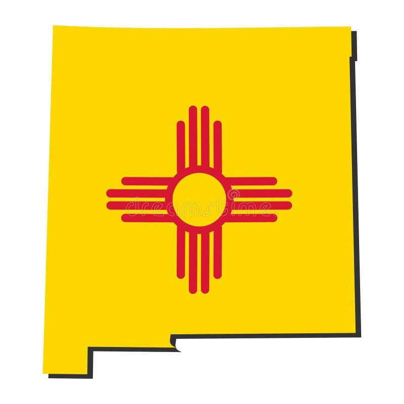 标志例证映射新的墨西哥 皇族释放例证