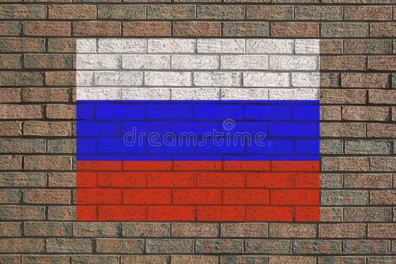 标志俄语墙壁 皇族释放例证