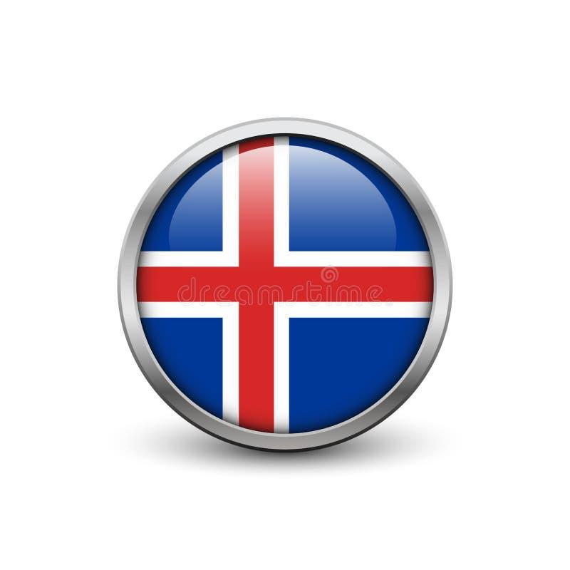 标志冰岛 向量例证