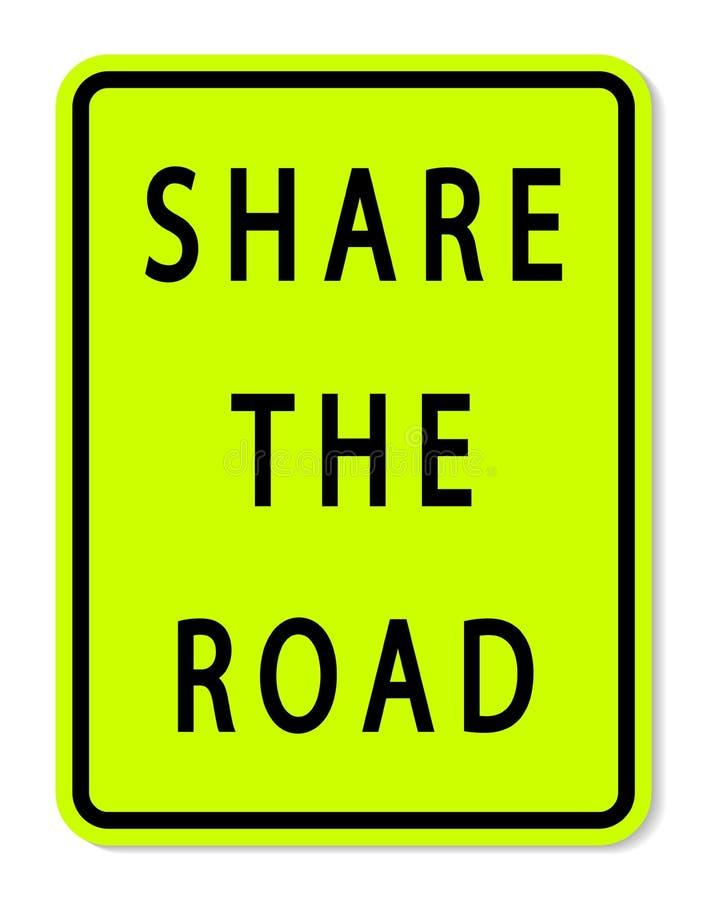 标志分享在白色背景的路标 向量例证