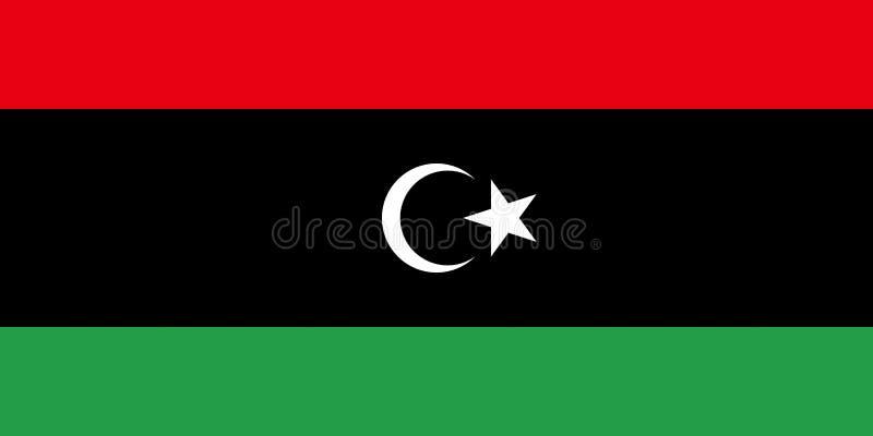 标志利比亚 库存例证