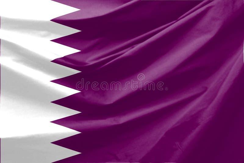 标志卡塔尔 皇族释放例证