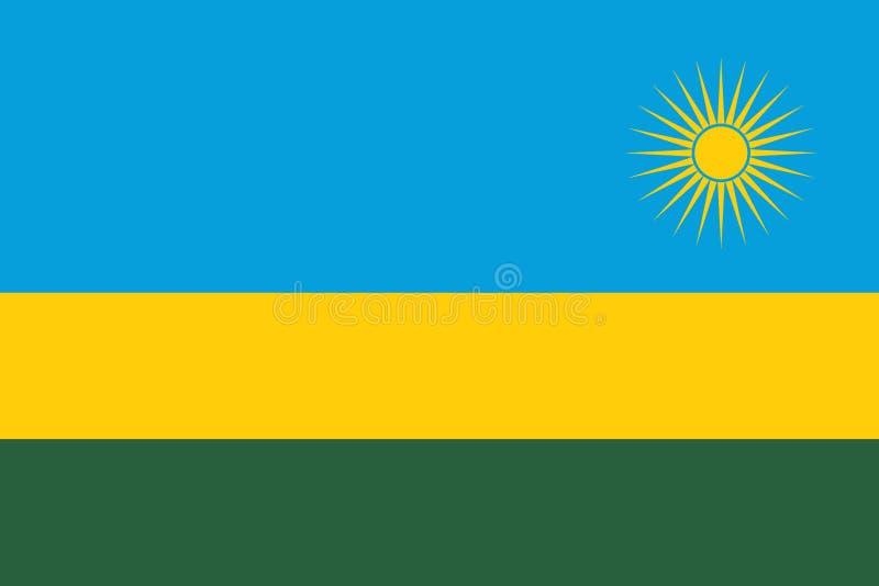 标志卢旺达 皇族释放例证