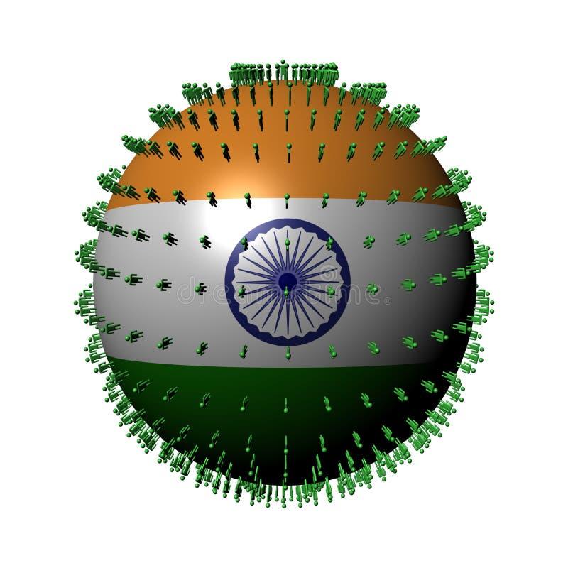 标志印度人范围 向量例证