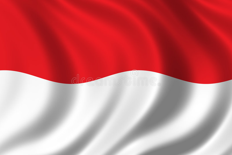 标志印度尼西亚 皇族释放例证