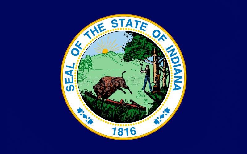 标志印第安纳美国 免版税库存图片