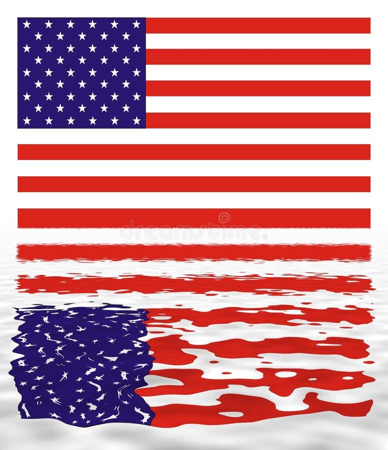 标志反映美国 向量例证