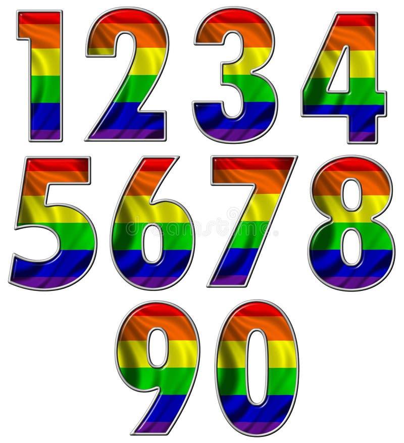 标志同性恋者计算彩虹 皇族释放例证