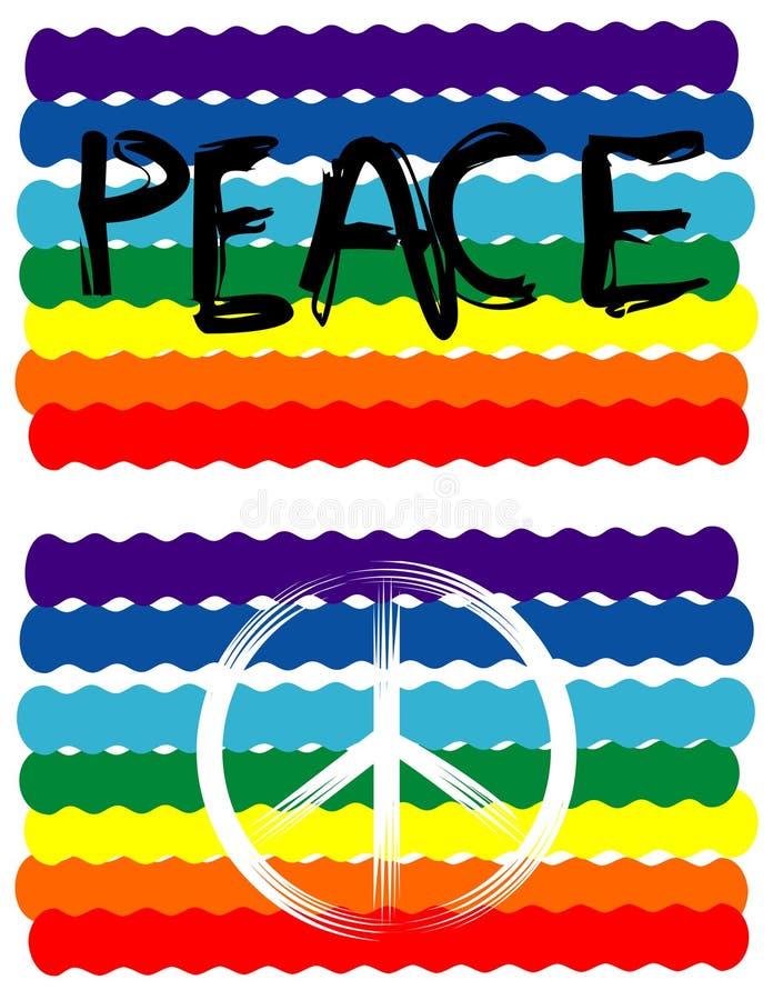 标志和平标志 库存例证