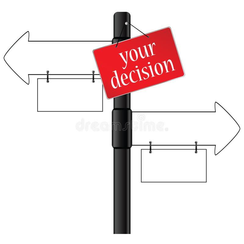 标志和您的决定方式例证 库存例证