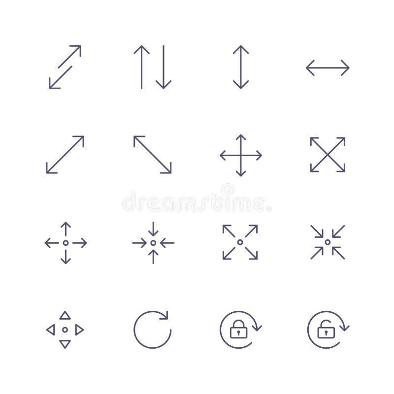 标志和箭头象 免版税库存图片