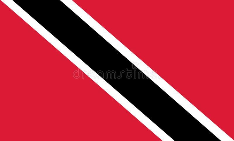 标志国家多巴哥特立尼达 与特立尼达和多巴哥的旗子的背景 库存例证