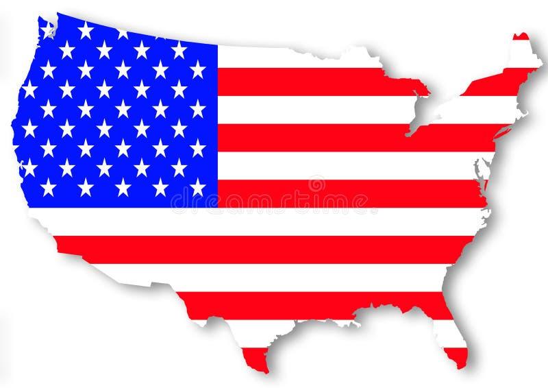 标志国家美国 向量例证