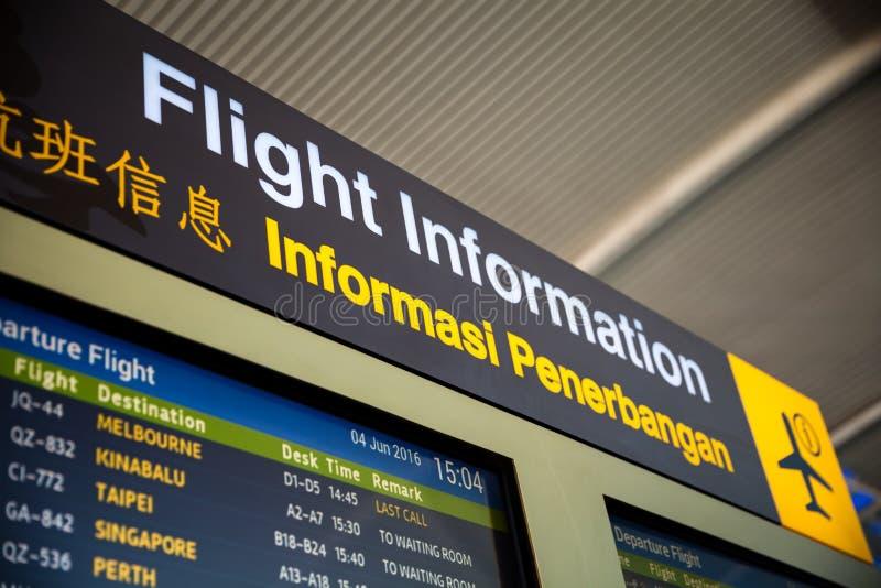标志在机场 免版税库存照片