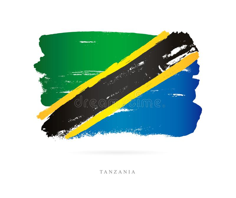 标志坦桑尼亚 抽象概念 向量例证