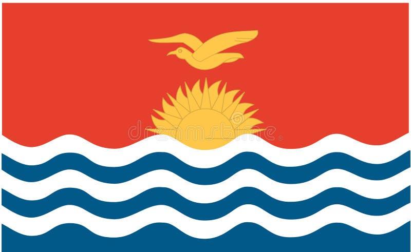 标志基里巴斯共和国 向量例证