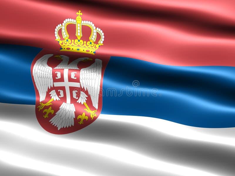 标志塞尔维亚 皇族释放例证