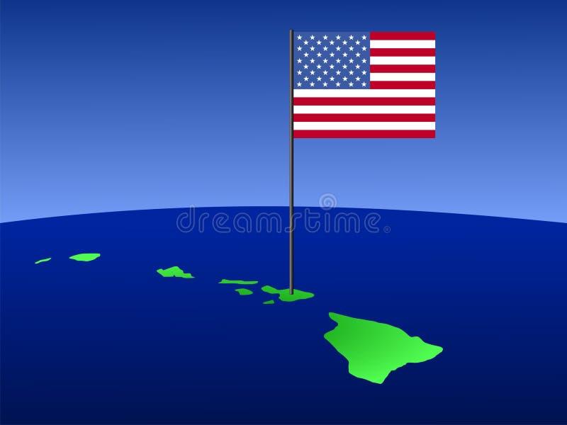 标志夏威夷映射 向量例证