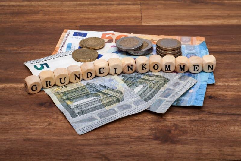 标志失业救济金福利救济改革基本的收入德国阿尔茨IV改革Solidarisches Grundeinkommen 免版税库存照片