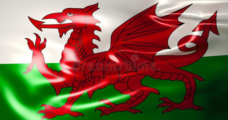 标志威尔士 3D威尔士,英国的例证 皇族释放例证