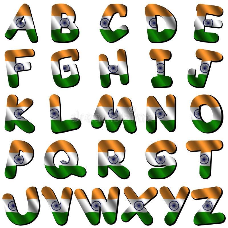 标志字体印度 库存例证