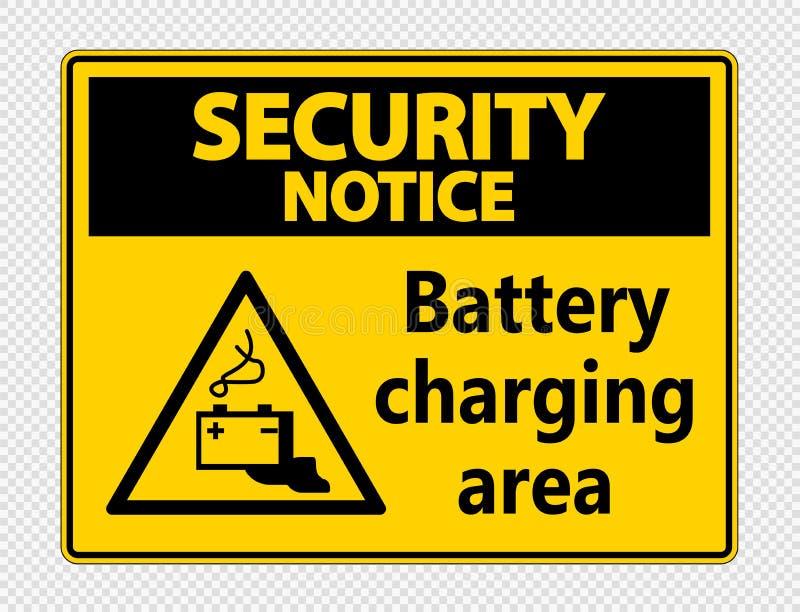 标志安全通知充电在透明背景的区域标志 向量例证