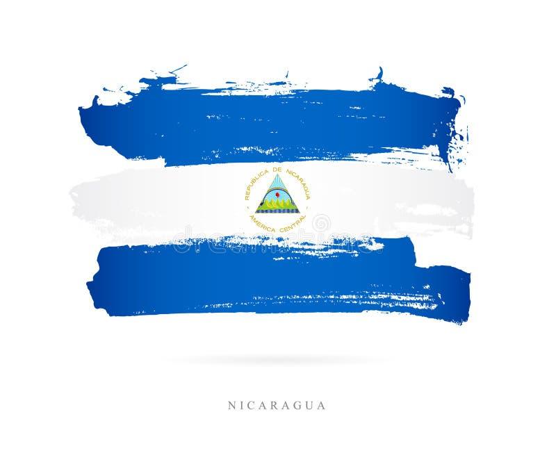 标志尼加拉瓜 抽象概念 库存例证