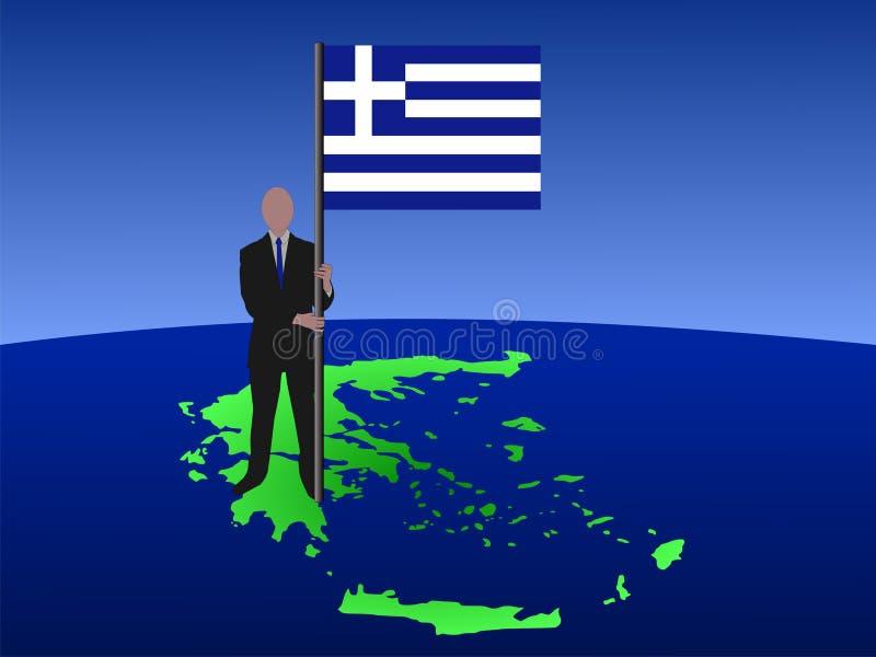 标志希腊人映射 库存例证