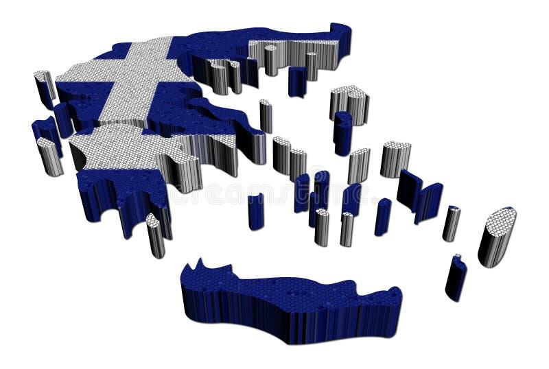 标志希腊例证映射马赛克 皇族释放例证
