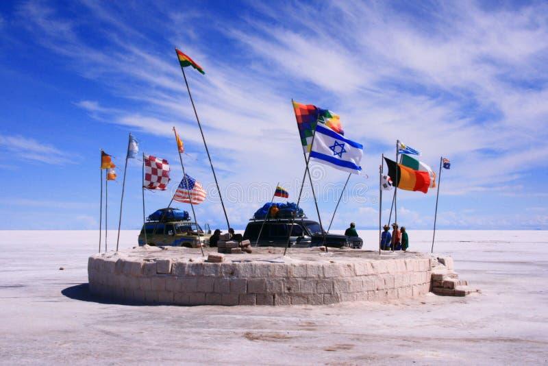 标志平面的纪念碑博物馆盐世界 免版税库存照片