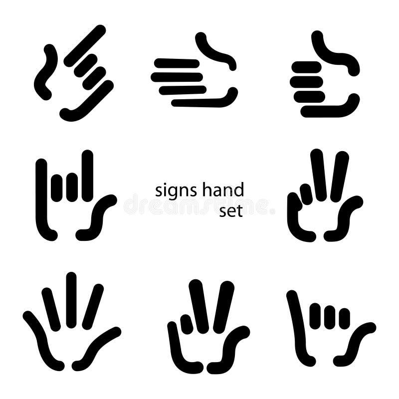 标志手 库存例证