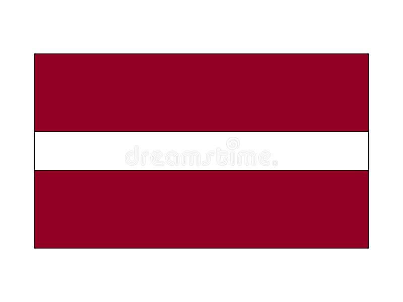 标志拉脱维亚 库存例证