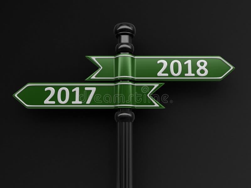 标志方向2017年2018年 皇族释放例证