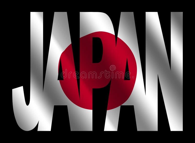 标志日本日本人文本 向量例证