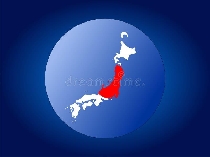 标志日本映射范围 皇族释放例证