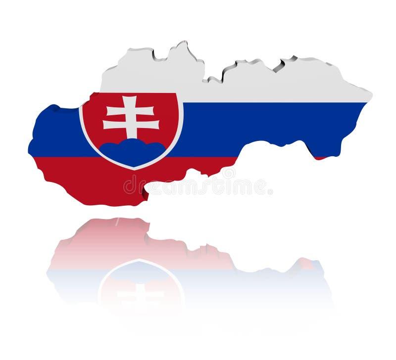标志映射反映斯洛伐克 库存例证