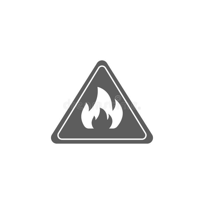 标志是易燃的象 油和煤气象的元素 优质质量图形设计象 标志和标志汇集象fo 皇族释放例证