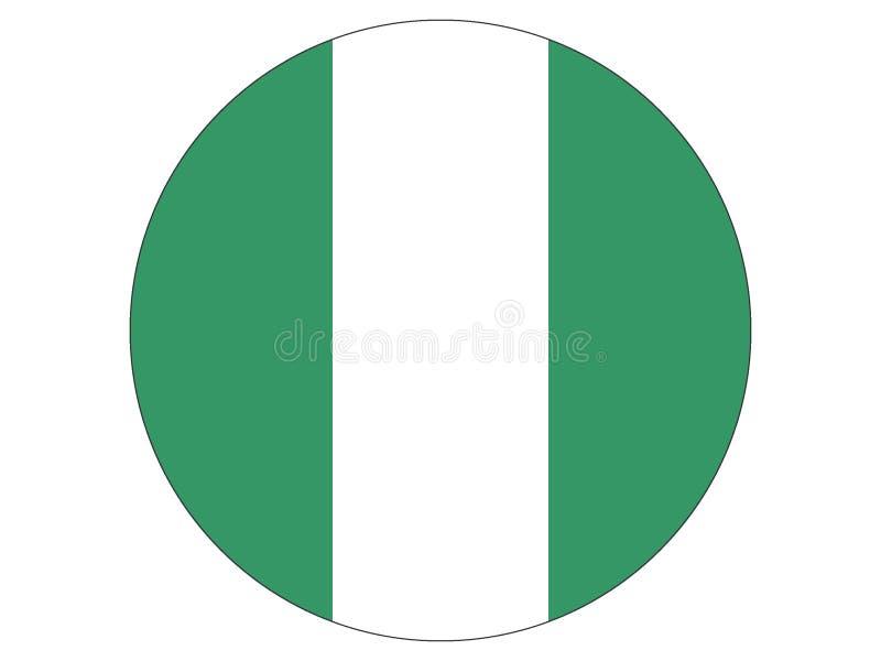 标志来回的尼日利亚 库存例证